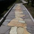 Натуральный камень лемезит. Пример сочетания с златолитом.