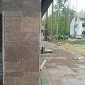Фасад облицован натуральным камнем лемезит.